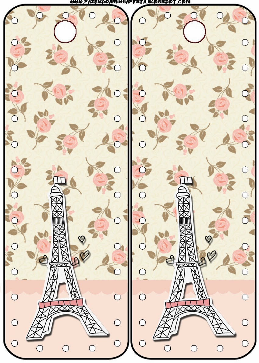 París con Rosas: Tarjetería para Imprimir Gratis. | Ideas