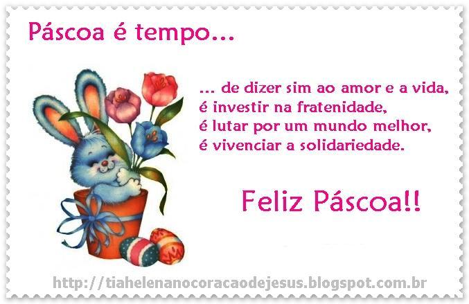 TIA HELENA NO CORAÇÃO DE JESUS: Cartãozinho Da Páscoa