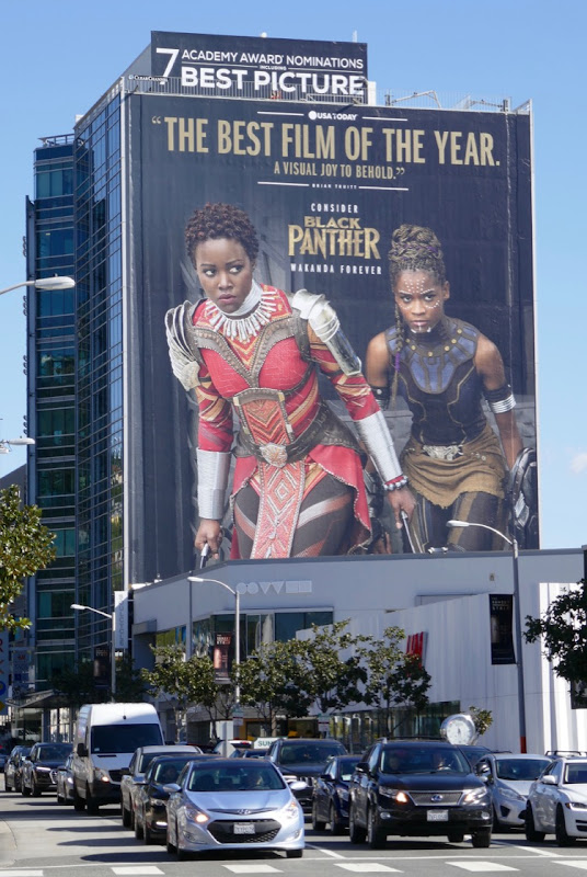 Giant Consider Black Panther Oscar nominee billboard