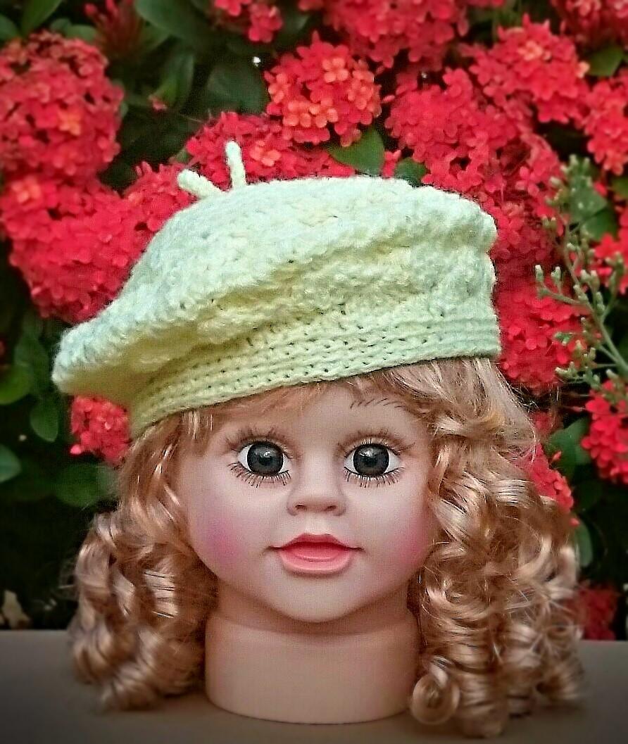 JANBRAZIL  Boina em crochê  baby crochet beret 91b8e38a623