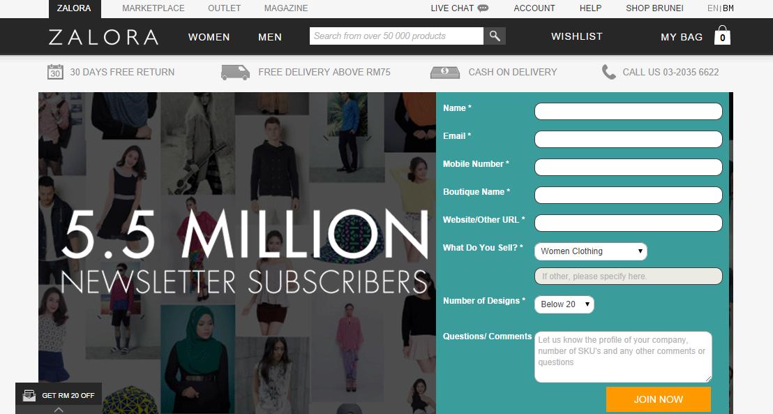 Malaysia online marketplace - Zalora