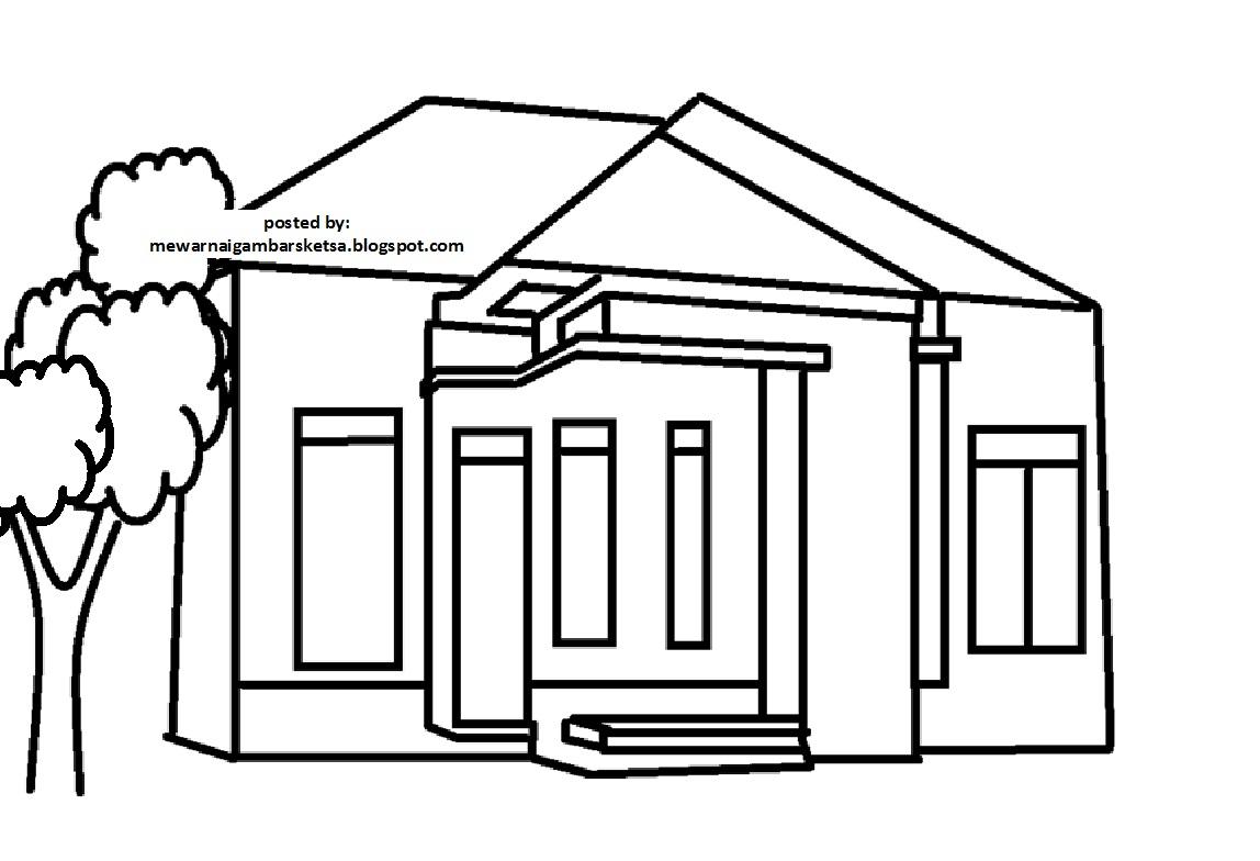 Kumpulan Gambar Kartun Rumah Sketsa