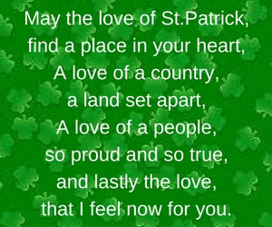 St Patrick's day poems quotes 2018