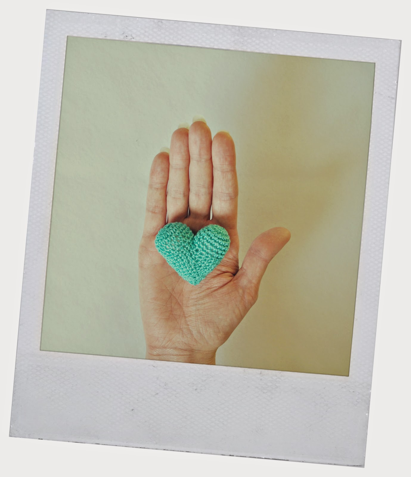heart mint Valentine's day handmade knitting