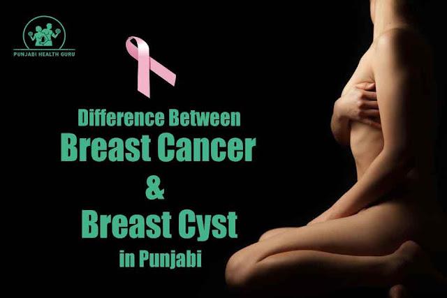 ਬ੍ਰੈਸਟ ਕੈਂਸਰ ਅਤੇ ਬ੍ਰੈਸਟ ਸੀਸਟ ਵਿੱਚ ਕਿ ਅੰਤਰ ਅਤੇ ਇਸਦੇ ਕਿ ਲੱਛਣ ਹਨ / Difference between Breast Cancer and Breast Cysts in Punjabi