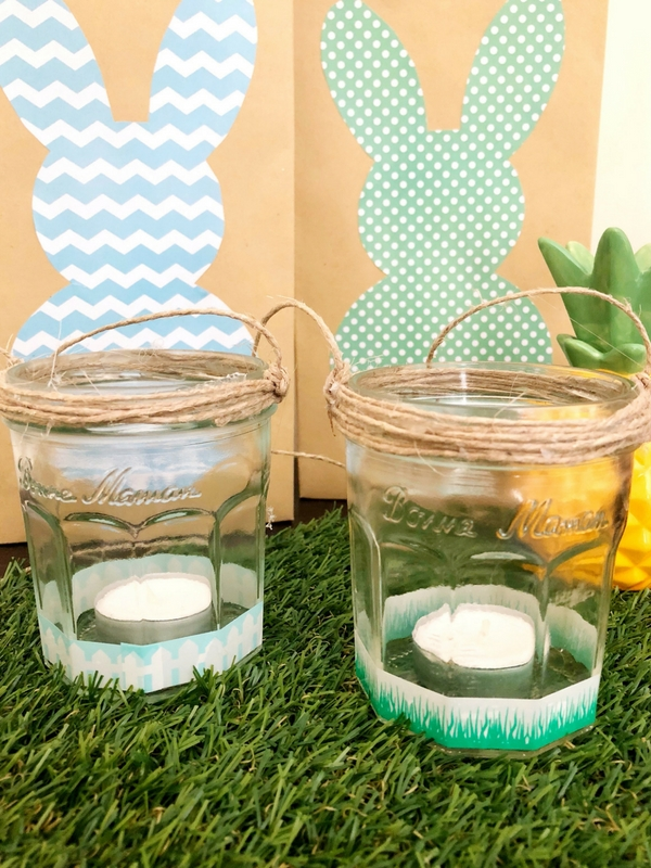 DIY MASON JAR TEA LIGHT HOLDERS: Recycle your mason jars with this easy 5-minute project and turn them into beautiful tea light holders for your pation and garden | Ioanna's Notebook