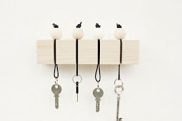 DIY Wall Key Ring with Wooden Keychains