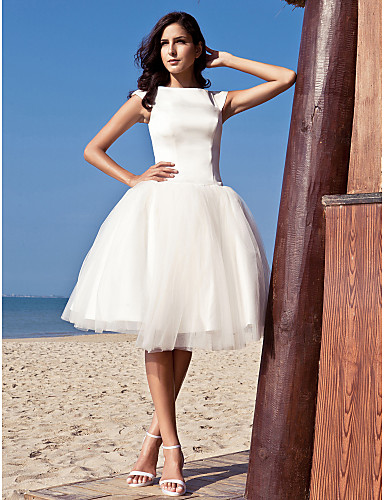 Chic & Modern/Glamorous & Dramatic/Reception Ball Gown Knee-length Wedding