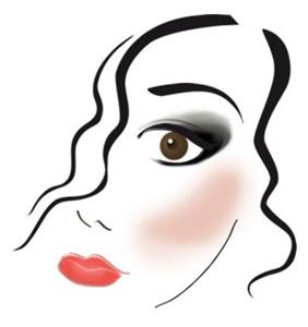 dibujo de maquillaje segun el color de los ojos
