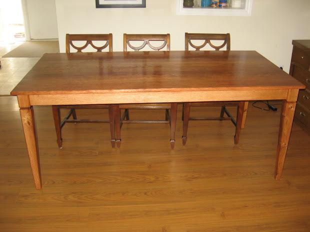 Red Oak Table Legs