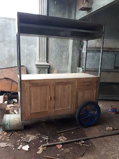 cara membuat gerobak kayu jati