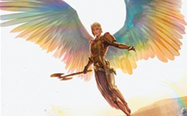 angel with axe