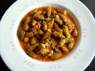 Okra Stew with Ground Meat (Kiymali Bamya)