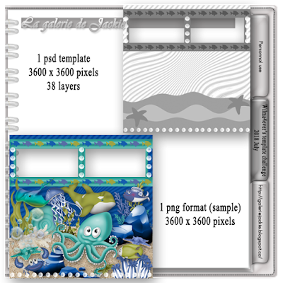 2018 July template challenge with La galerie de Jackie