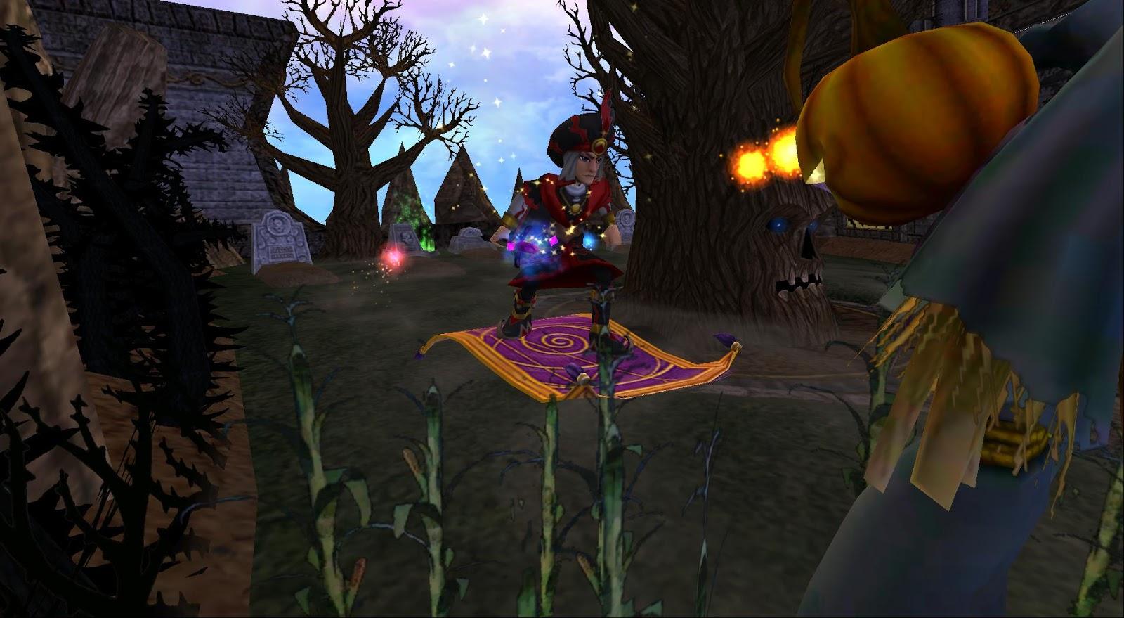 Around the Spiral with Edward Lifegem: Wizard101: Halloween Run Help