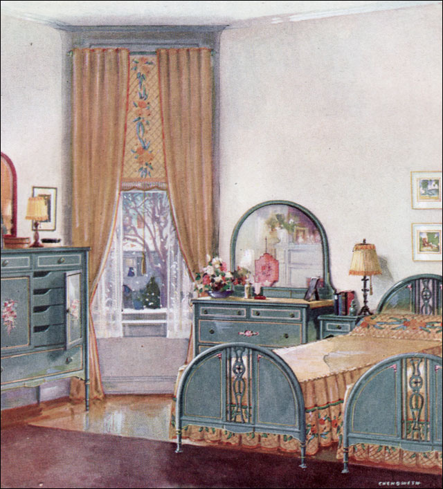 Decor House Furniture: Apron History: More 1920 Decorating Ideas-Bedrooms