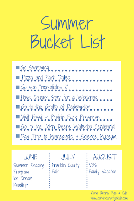 2018 Family Summer Bucket List + FREE Printable