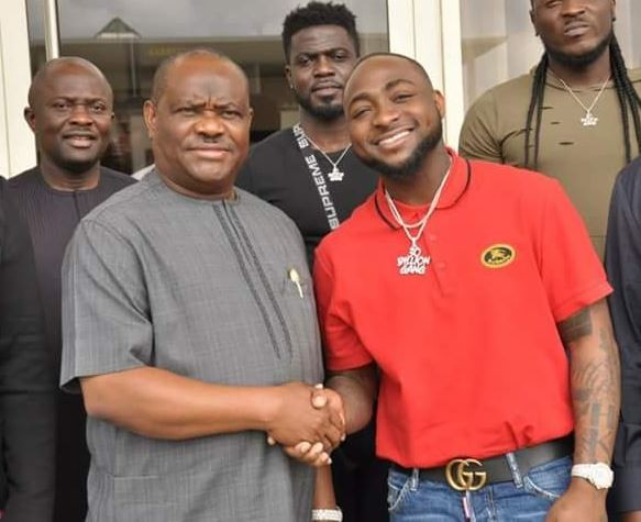 Photos: Davido meets Rivers State Governor, Nyesom Wike At Rivers Govt. House