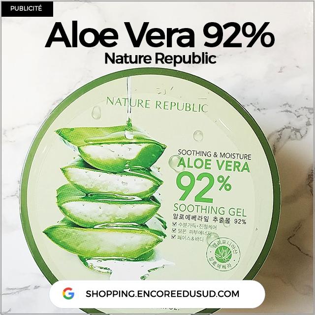 Aloe Vera Nature Republic 92% Corée