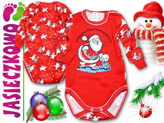 świąteczne body dla niemowląt