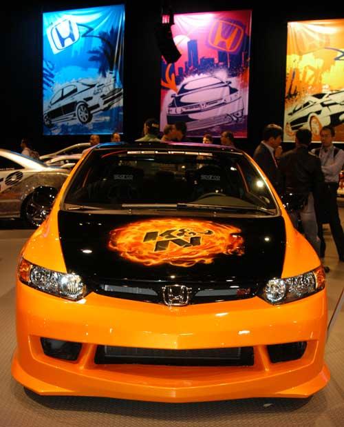 Orange Bkn Honda Bcivic Sir