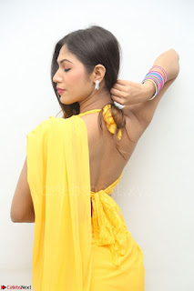 Nishigandha in Yellow backless Strapless Choli and Half Saree Spicy Pics 055.JPG