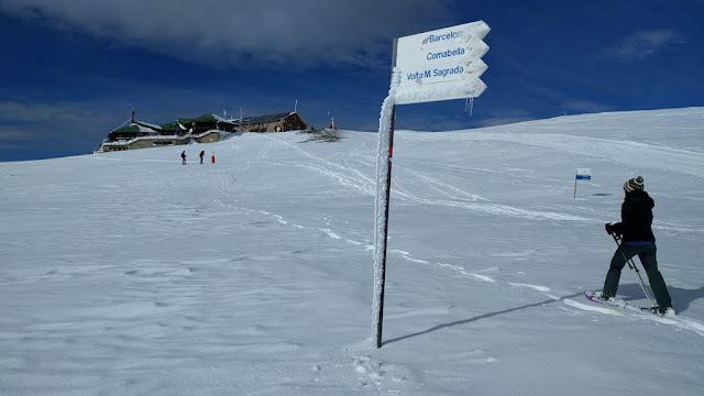Ruta raquetas de nieve La Molina