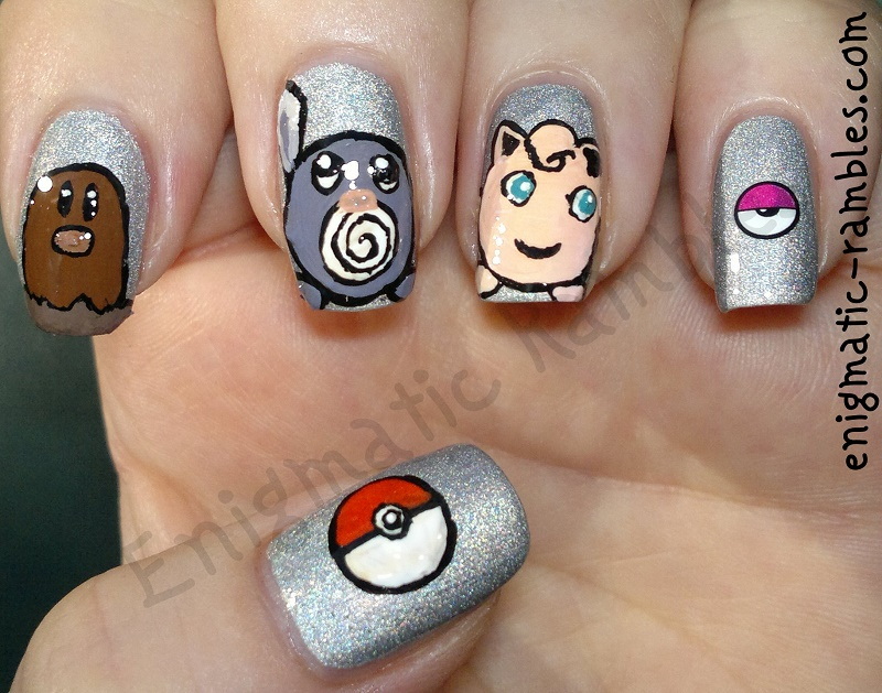 Review-Born-Pretty-Store-Stickers-XF471-pokemon-nails-digglett-pokeball-jigglypoof