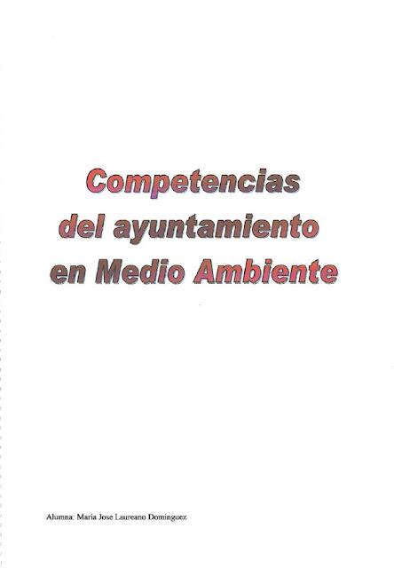Competencias municiaples en Medio Ambiente.