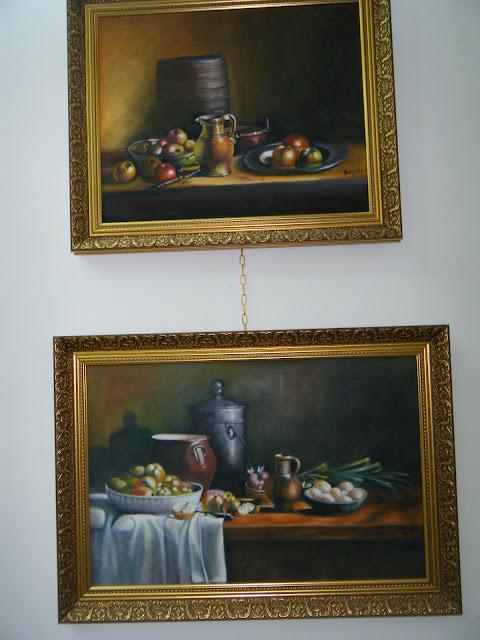 Les peintures de mes élèves à l'expo 9