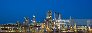 Petrochemical Plant at Dusk (Credit: gettyimages.com) Click to Enlarge.