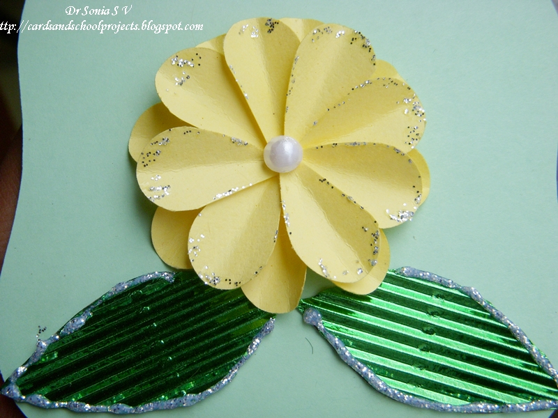 Cards Crafts Kids Projects Heart Punch Daisy Flower Tutorial