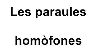 paraules homòfones