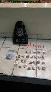 GCM Jandira -ROM prende traficante em flagrante