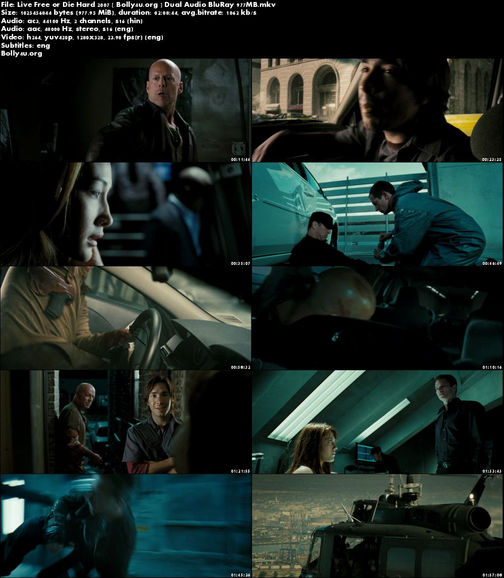 Live Free or Die Hard 2007 BluRay 950MB Hindi Dual Audio 720p Download