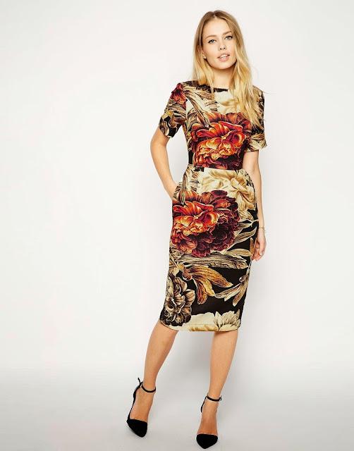 wiggle print dress
