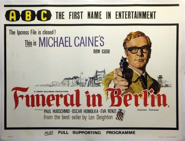 Original British poster for Funeral in Berlin 1966