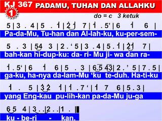 Lirik dan Not Kidung Jemaat 367 PadaMu, Tuhan dan Allahku