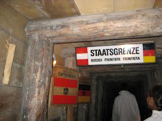 The underground mine crosses the Austrian-German border