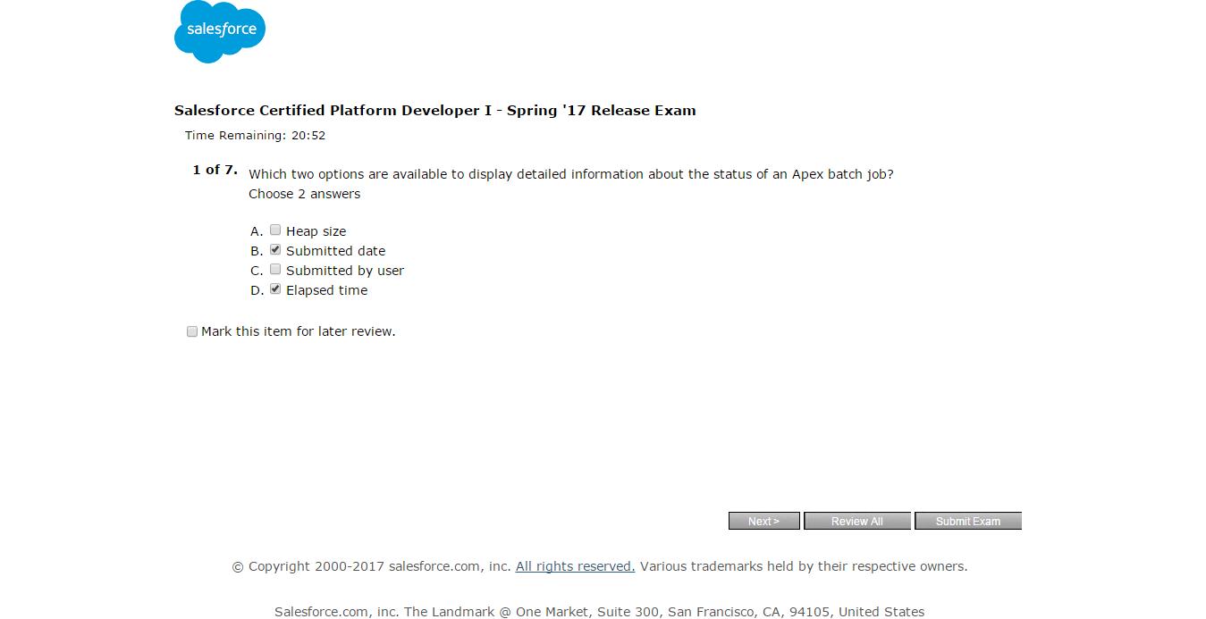 Salesforce prasad salesforce certified platform developer i salesforce certified platform developer i spring 17 release exam 1betcityfo Gallery