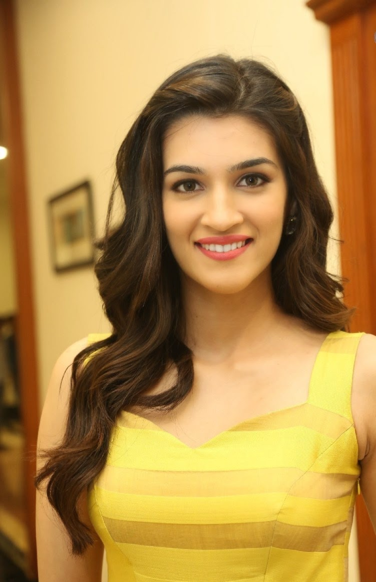 Kriti Sanon Hd Photoshoot Images In Yellow Dress