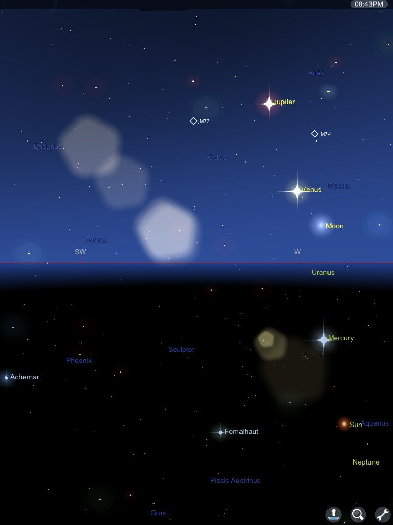 Our Sky Tonight Via Star Chart