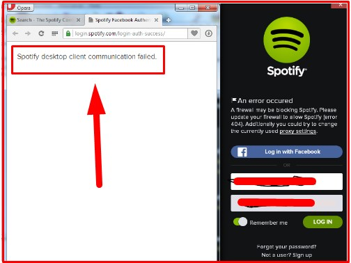 spotify won't login with facebook