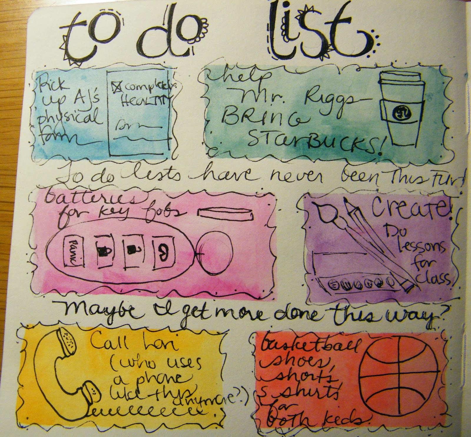 Art Journals Simple Daily To-Do List Art Journal Page Get Organized Simple Ways to Be Creative Tasks