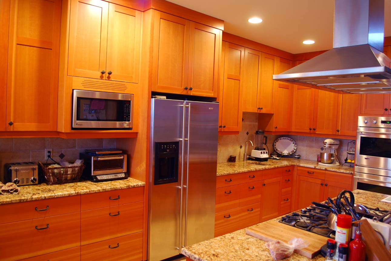 Full Height Kitchen Cabinets Hardwood Design Cvg Fir Kitchen