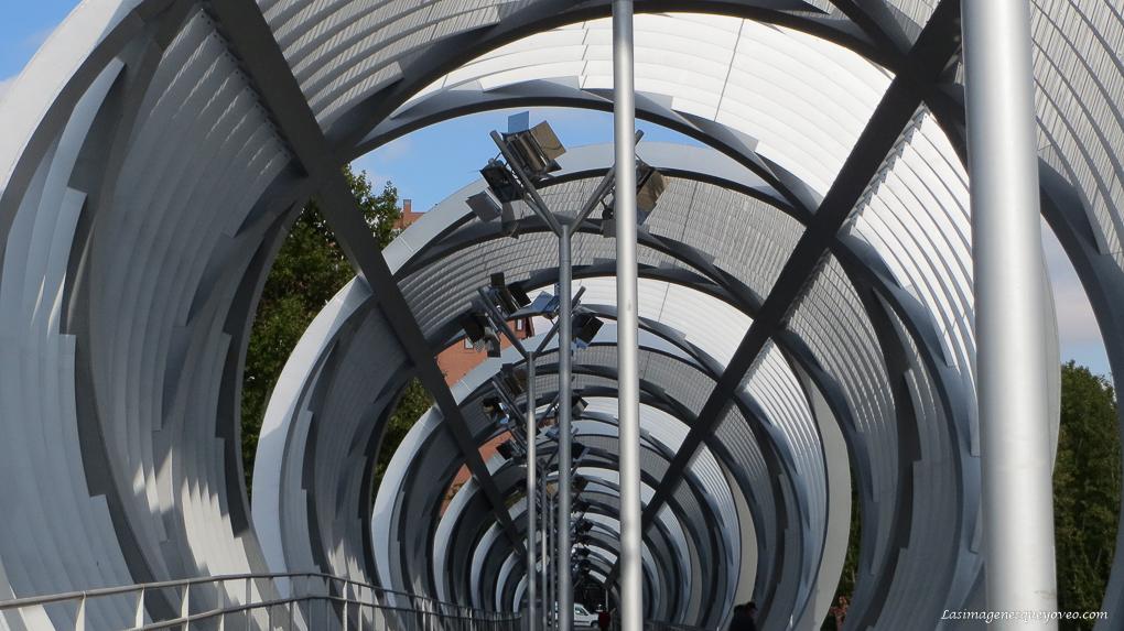 Patrón de composición fotográfica geométrico.Líneas circulares