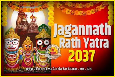 2037 Jagannath Rath Yatra Pooja Date and Time, 2037 Puri Ratha Yatra Calendar