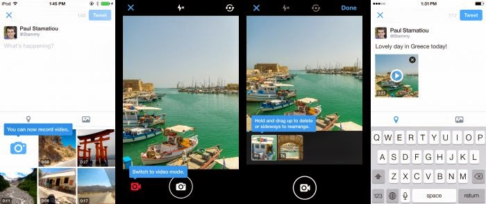 Twitter intros group Direct Messages and mobile video camera features for Android and iOS