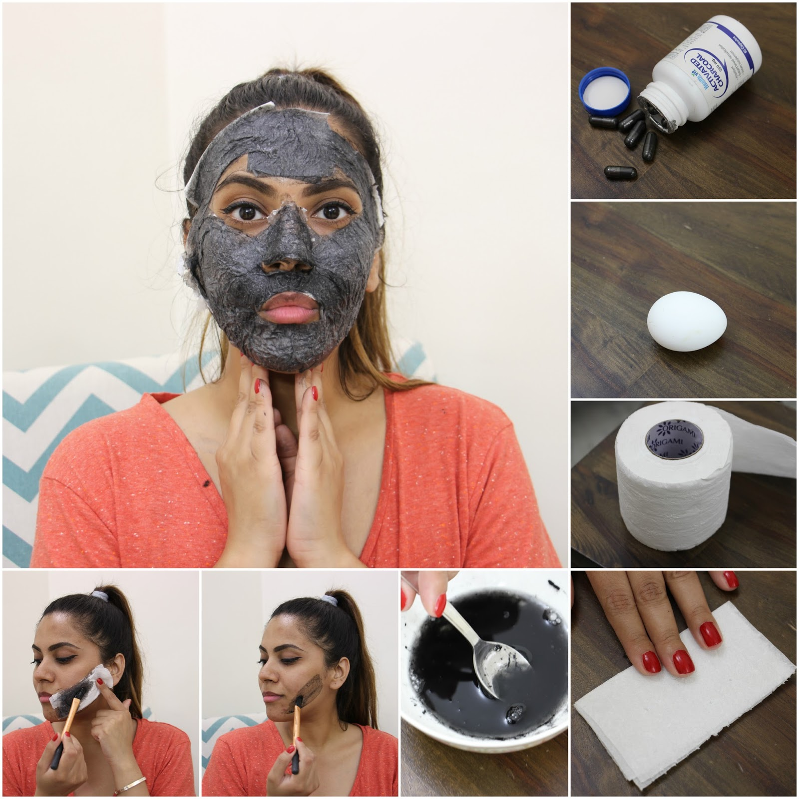 Diy Charcoal Mask Open 4 5 Capsules And Use A Brush To: DIY Peel-Off Face Mask-Tightening,Brightening,Hair Removal