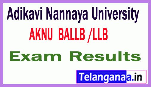Adikavi Nannaya University BALLB /  LLB  Exam Results